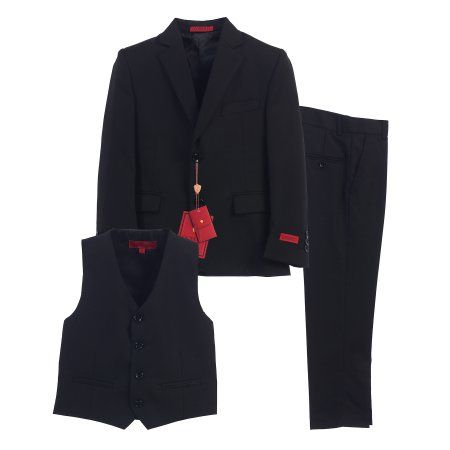 Gioberti Boy's Formal Suit Set, Black