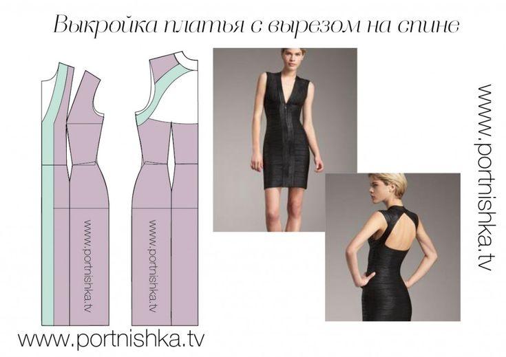 Vestido del patrón con el recorte en la parte posterior