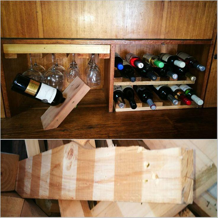 Wood proyect 12 Madera reciclada de pallets para vinos y copas #diseñorustico