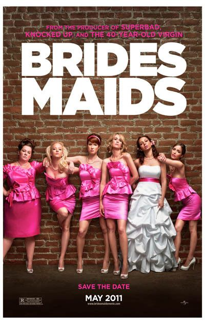 A great poster from the movie Bridesmaids! Kristen Wiig, Maya Rudolph, Rose Byrne, Melissa McCarthy, Wendi McLendon-Covey, and Elli Kemper - what a cast! Ships fast. 11x17 inches. Need Poster Mounts..