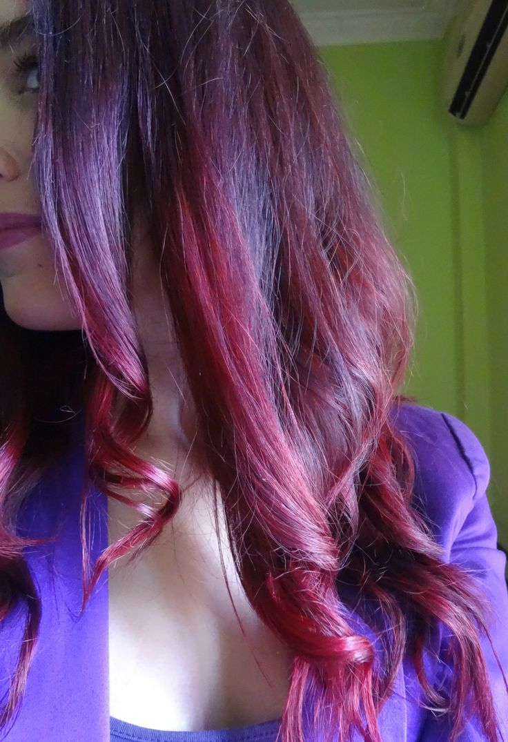 9 Best Images About My Dark Brown Burgundy Red Ombre