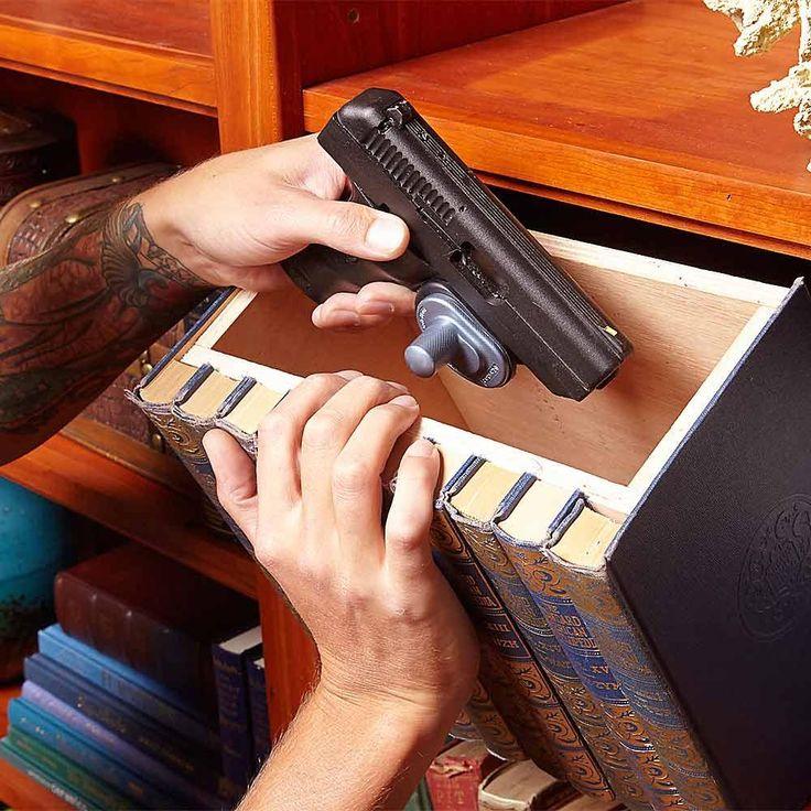 The Old Hollowed-Out-Book Trick - 13 Secret Hiding Places: http://www.familyhandyman.com/home-security/20-secret-hiding-places#1