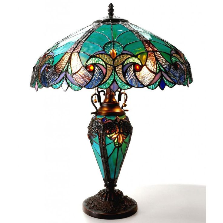 The Chloe Lighting Liaison In. Tiffany Style Victorian Bronze Double Lit Table  Lamp Creates Warmth To Your Home.