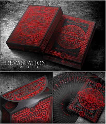 Devastation Playing Cards - Black Ink Playing Cards