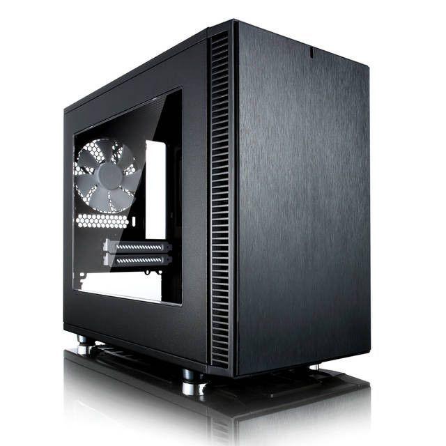 Fractal Design Define Nano S No Power Supply Mini-ITX Case w/ Window (Black)