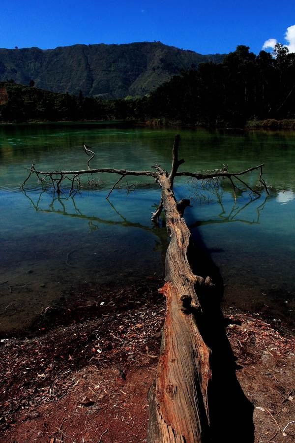 Telaga Warna, Wonosobo, Central Java - Indonesia. Photo by Nanta Maulana, via Behance