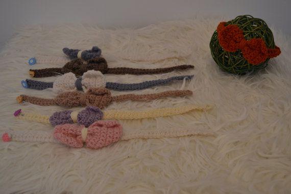 Newborn Head Band Newborn Ribbon Head Band by knitbabyclothes, $12.00