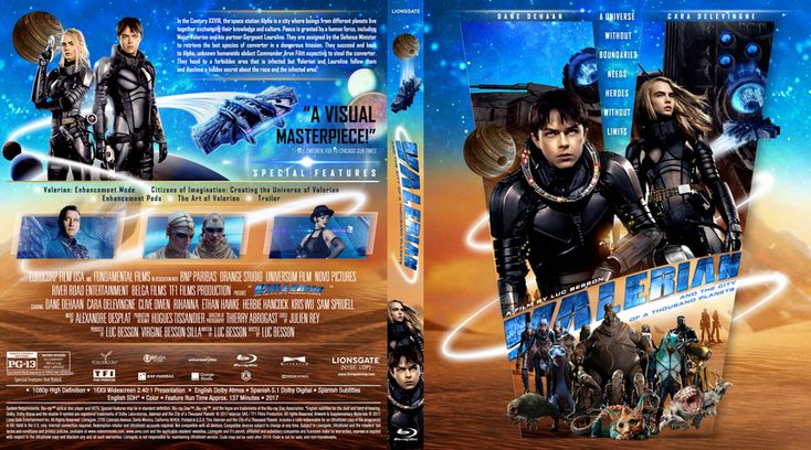 Valerian and the City of Thousand Planets (2017) Blu-ray Custom Cover