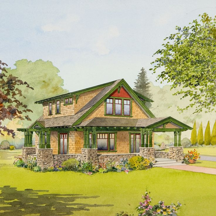 Best 231 Craftsman Style Bungalows Images On Pinterest