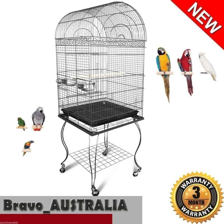 Bird Cage Stand-alone Aviary Pet Parrot Budgie Perch Castor Wheels Large 150cm