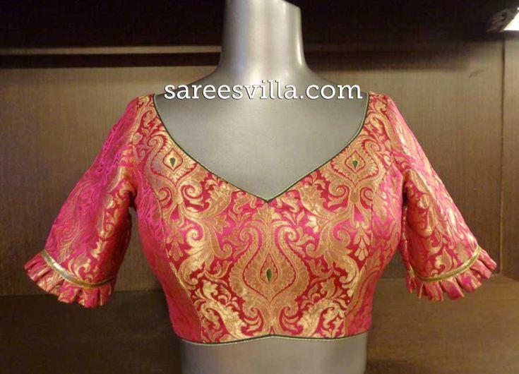 Designer Saree Blouses: Patterns & Designs | Sarees Villa