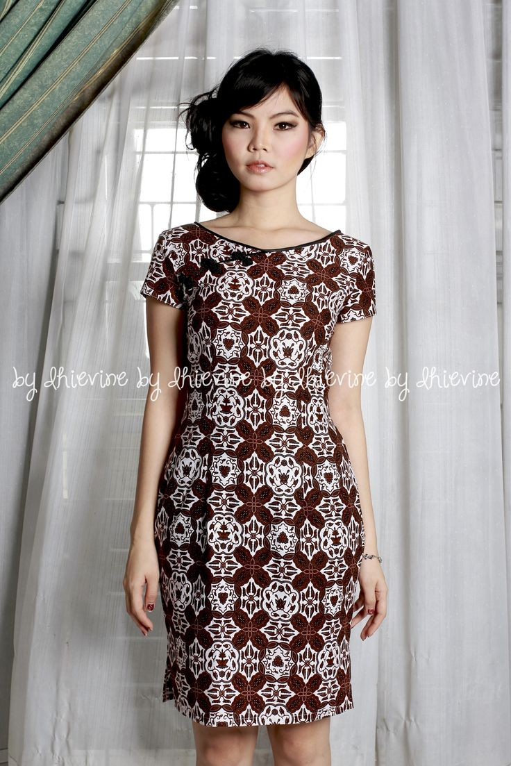 Lunar Dahayu Dress |qipao dress | simple qipao dress | batik qipao dress | DhieVine | Redefine You