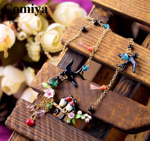 Женщины богема ласточка образный подвески талисманы яркость окрашенный 10 k заполненные ожерелья стразы ожерелье и кулон подароккупить в магазине Qingdao Comiya Fashion Jewelry Co., Ltd.наAliExpress