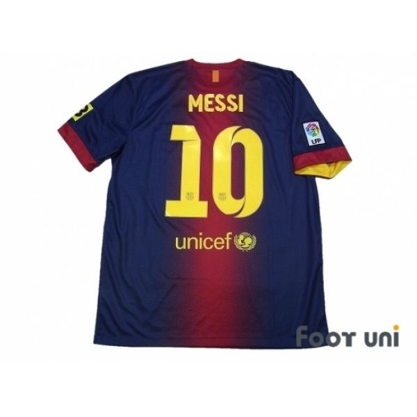 Photo2: Barcelona 2012-2013 Home Shirt #10 Messi LFP Patch/Badge TV3 Patch/Badge nike - Football Shirts,Soccer Jerseys,Vintage Classic Retro - Online Store From Footuni Japan