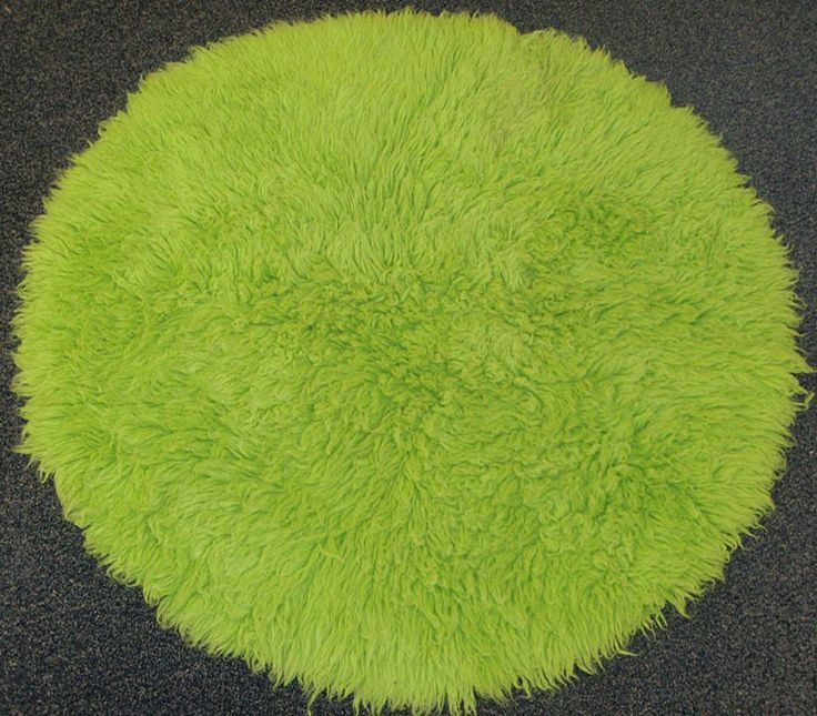 Premium Flokati Lime Green Rug Round) - Overstock Shopping - Great Deals on  Round/Oval/Square