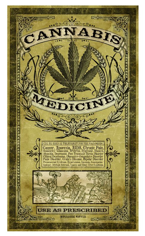 cannabis,/ believe this is made to look old, but it was a good excuse to be for…