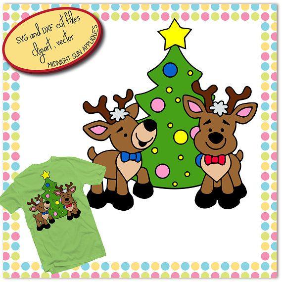 Cute reindeer svg christmas tree svgchristmas svgchristmas
