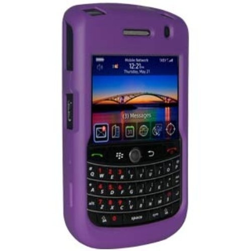 Amzer Rubberized Snap-On Crystal Hard Case with Belt Clip for BlackBerry Tour/Niagra 9630 - Purple by Amzer. $5.33.