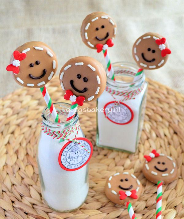 Ho Ho #oreo! Gingerbread Man Oreo Pops via @Laura's Bakery