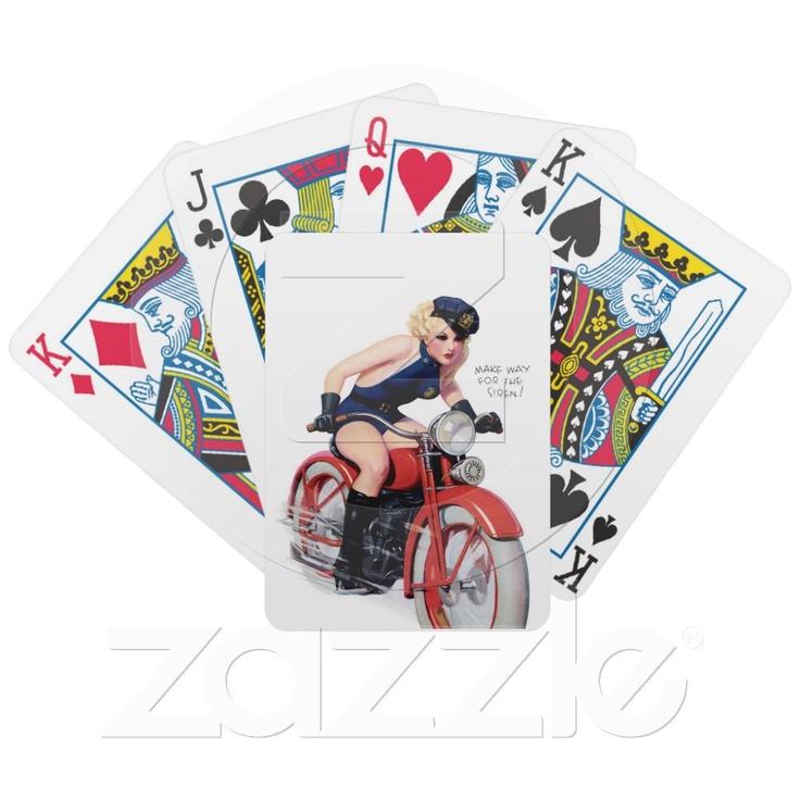 Nice Make Custom Playing Cards Part - 5: Custom Playing Card Decks ~ Make Way For Siren Pin Up Girl ~ Retro Art Deck