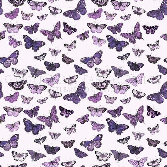 purple butterfly fabric