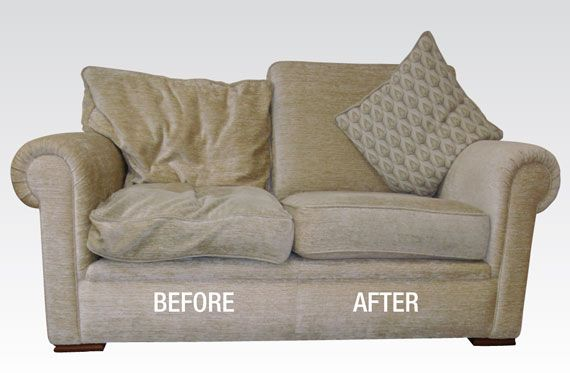If cushions have started to droop don't spend money on buying foam or getting them refilled... buy batting and cover existing cushions (under the fabric) and secure to stop furniture from looking tired