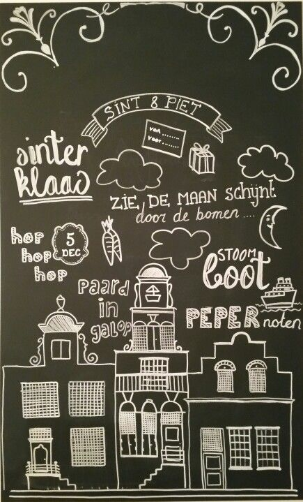 #Krijtbord #Sinterklaas #chalkboard