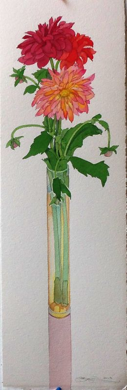Gary Bukovnik - Galerie Thomas Reynolds - San Francisco - Dahlia - 27 cm x 8,5 cm