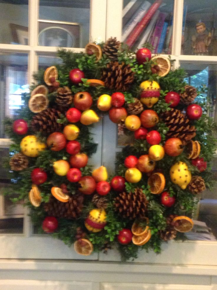 36 best orchard house primitives do it yourself projects can be just freshly made my williamsburg wreath that i sell on my own site orchard house primitives solutioingenieria Images