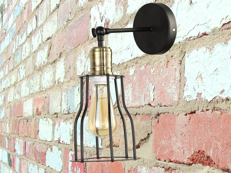 etsy industrial lighting. iron cage sconce industrial wall lighting for bar retro light fixture loft vintage downside etsy