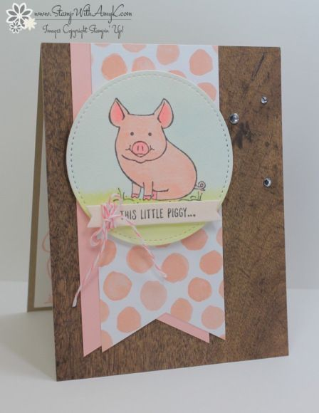 Stampin Up! This Little Piggy for the Happy Inkin' Thursday Blog Hop