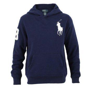 Polo Ralph Lauren Big Pony Fleece Pullover Hoodie, Navy, Medium Polo Ralph Lauren.