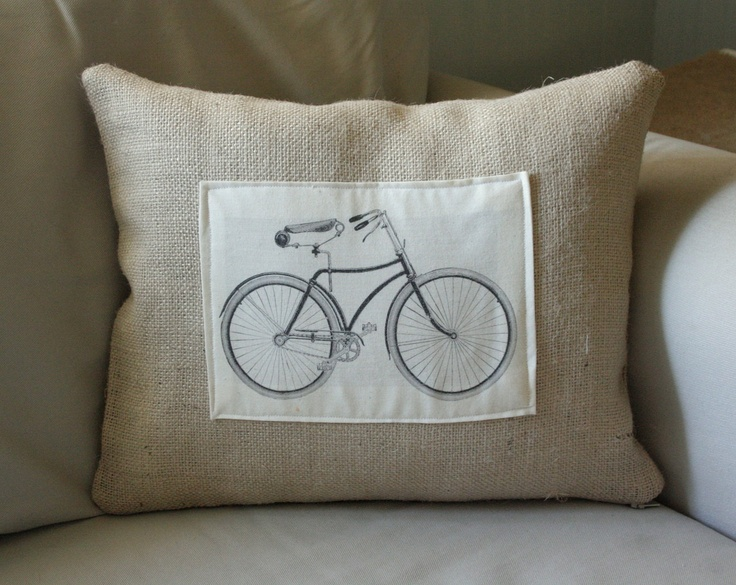 Bicycle Print Throw Pillow : bicycle print pillow cover bicycles Pinterest