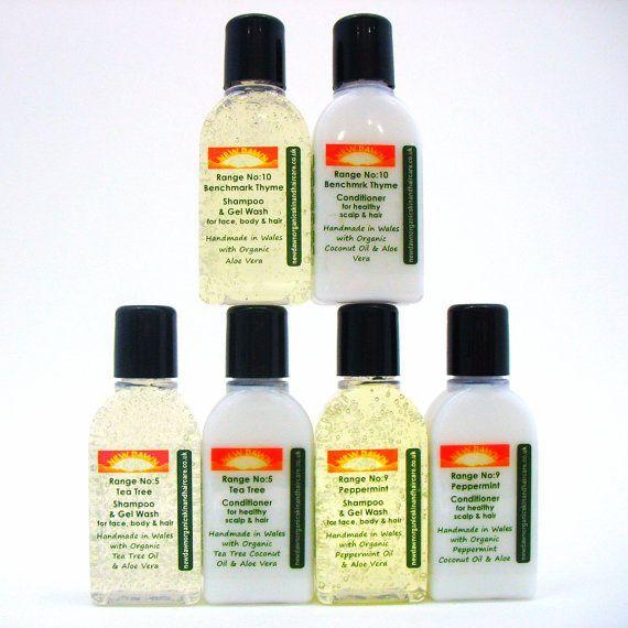Head Lice Shampoo & Conditioner Sample Pack  by NewDawnOrganicSkin