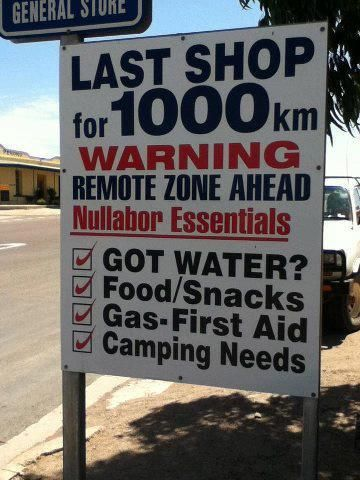 Only in Australia - and they're not kidding ....