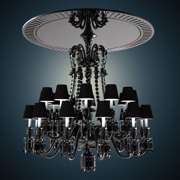 Baccarat zenith noir 24 light chandelier maintaining the chandeliers original structure and ornamentation starck