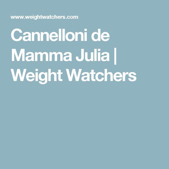 Cannelloni de Mamma Julia   Weight Watchers