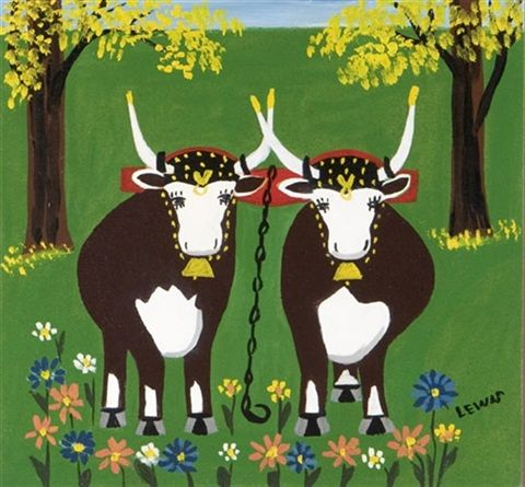 Daffodils by Maud Lewis