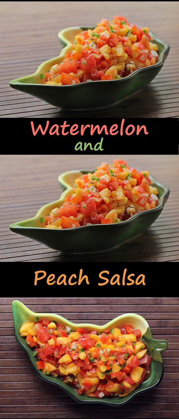 Watermelon and Peach Salsa