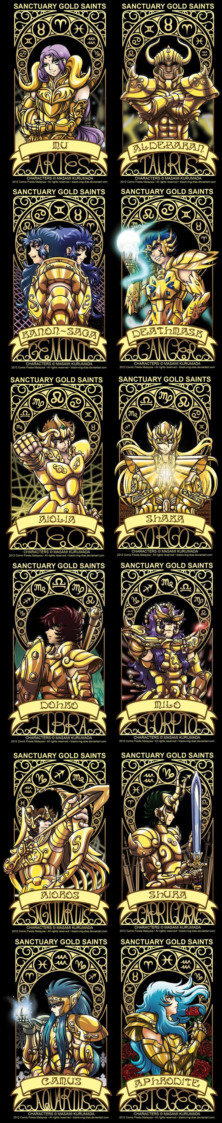 Gold Saints Cards Gold Saints  ♈ ♉ ♊ ♋ ♌ ♍ ♎ ♏ ♐ ♑ ♒ ♓
