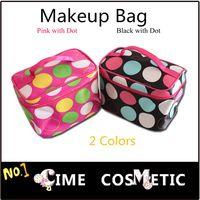 2pcs / pack de maquillaje dulce regalo de la manera del bolso de punto de impresión del caso cosmético , envío libre