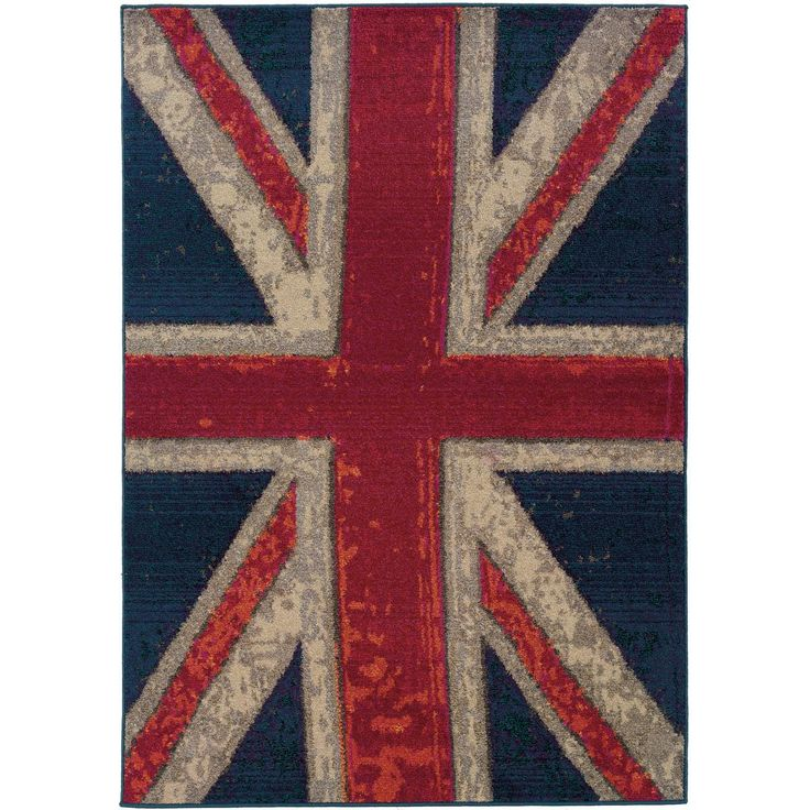 Distressed Union Jack Rug