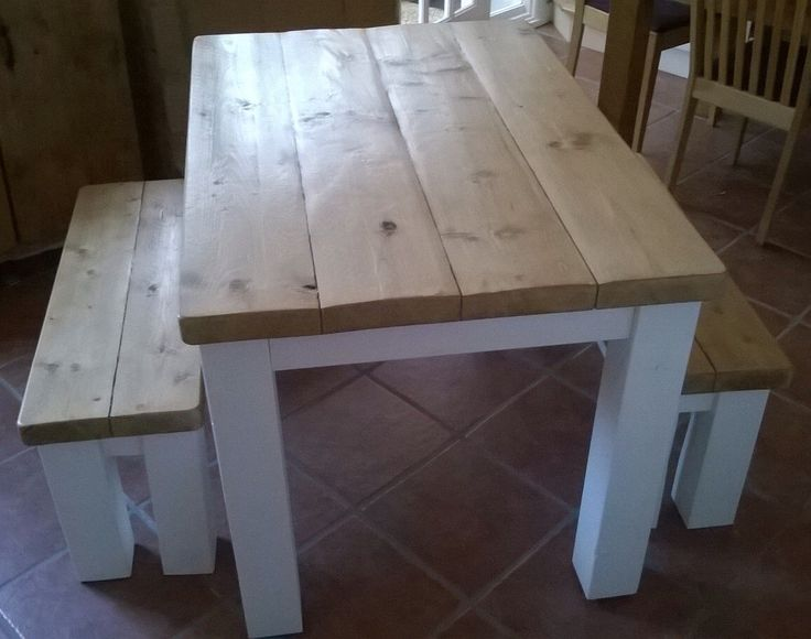 Handmade Rustic Kitchen Table & Bench Set 054 by rusticfare on Etsy https://www.etsy.com/listing/209436266/handmade-rustic-kitchen-table-bench-set