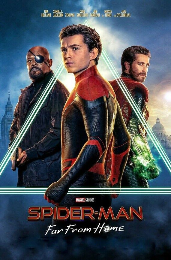 Spiderman Far From Home Streaming : spiderman, streaming, Spiderman, Poster, Final, Movie, Fabric, Cloth, Print, Decor, 13x20