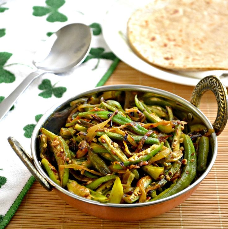 Bhindi Do Pyaza - Indian Style Okra Onion Stir Fry - simple and ...