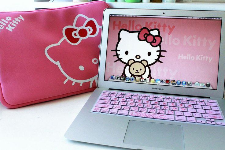 """*FREE Keyboard Protector* Macbook Air Pro 13"""" Hello Kitty Laptop Soft Case Bag"""