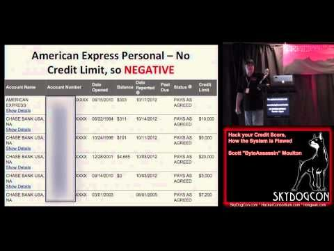 SkyDogCon 2 20 Hack your Credit Score, How the System is Flawed Scott Moulton ByteAssassin