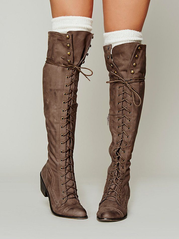 Gorgeous Free People Joe Lace Up boots. Forget diamonds, boots are my best friends.