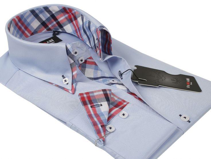 F5 Blue Shirt | Farrabi Slim Fit | Exclusive Luxury Shirts