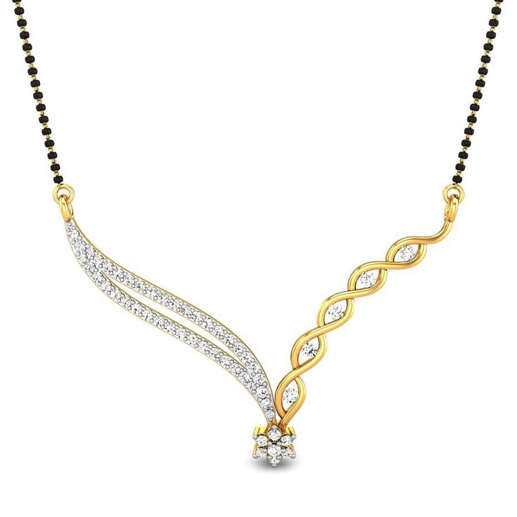 A girl should be two things classy and fabulous.  A diamond Mangalsutra is both…